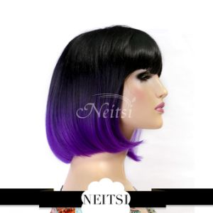 Hot! 100% Japanese Kanekalon Bob Synthetic Wig pictures & photos