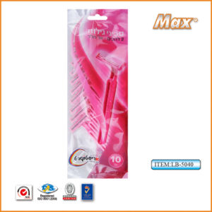 Platinum Coated Stainless Steel Twin Blade Disposable Shaving Razor (LB-5040) pictures & photos