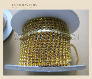 Rhinestone Plated Silver Cup Chain for Fashion Dress, Dresses pictures & photos