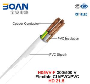 H05VV-F, Electric Wire, 300/500 V, Flexible Cu/PVC/PVC (HD 21.5) pictures & photos