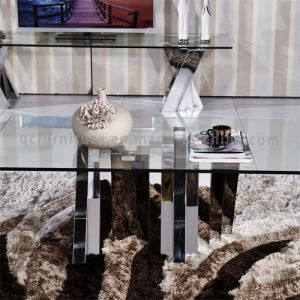 2016 Living Room Furniture Glass Square Coffee Table Set pictures & photos