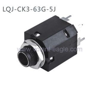 Plastic 1/4′′ Stereo Enclosed 6.35mm Phone Jack with RoHS Ck3-63G-5j pictures & photos