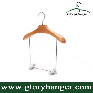 Wooden Hanger with Big Metal Clips for Swimwear / Swimsuit (GLWH167) pictures & photos