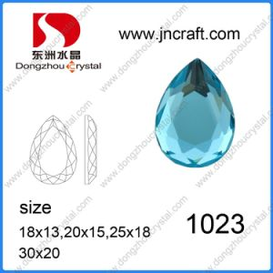 Aquamarine Pear Shape Mirror Flat Back Glass Stones (can drill holes) for Jewelry Accessories pictures & photos