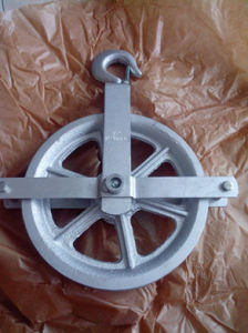 Hoist Pulley Wheel for Scaffolding with Electro Galvanized Surface pictures & photos