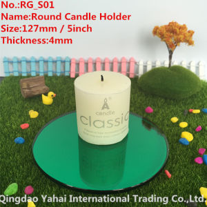 4mm Round Green Glass Candle Holder pictures & photos