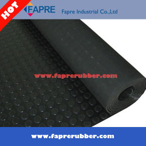 Rubber Coin Mat Roll/Coin Pattern/Round stud pattern rubber mat. pictures & photos