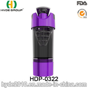 600ml Wholesale Plastic Protein Shaker Bottle, BPA Free PP Plastic Cyclone Cup (HDP-0322) pictures & photos