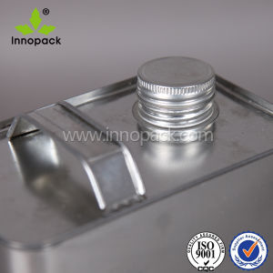 4L Rectangle Metal Screw Cap Tin Can with Metal Lid pictures & photos