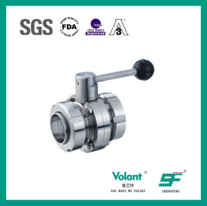 Stainless Steel Food Processing Manual Welded Butterfly Valve pictures & photos