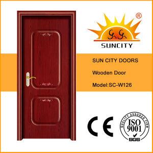 China New Design Room Wood Main Door Design (SC-W126) pictures & photos