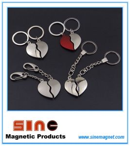 Heart Shape Magnetic Key Ring/Valentine Gifts for Couples pictures & photos