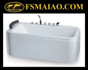 Hot Sales Freestanding Acrylic Massage Bathtub (BA-8713) pictures & photos