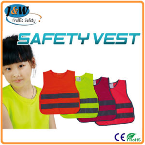 100% Polyester Mesh Fabric Fluorescent PVC Safety Warning Police Vests pictures & photos