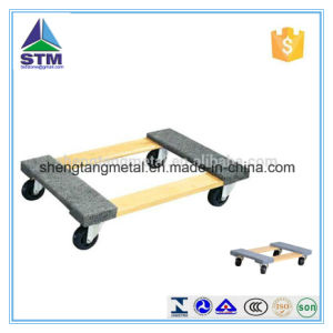Portable Wooden Mover Dolly with Four Wheel