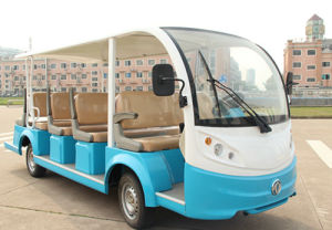 Chinese Best Seller 14 Passengers Electric Shuttle Bus on Sale pictures & photos
