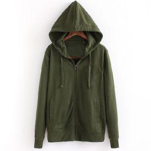 Hot Wholesale Cheap Men Zip up Blank Plain Hoodies pictures & photos