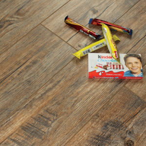 New Laminate Flooring Brushed Metal Surface with V-Groove G005#