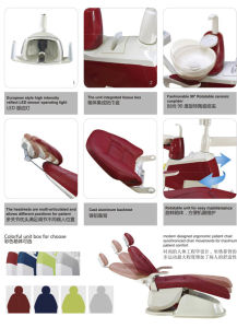 New Design LED Sensor Lamp Ergonomic Patient Colorful Dental Chair pictures & photos