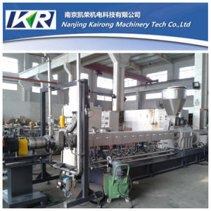 LDPE HDPE LLDPE PE Plastic Pelletizing Twin Screw Extruder pictures & photos