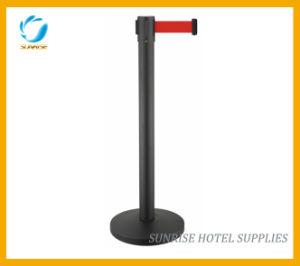 Bank Safe Belt Stanchion Queue Pole Retractable Belt Barriers pictures & photos
