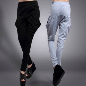 Ladies Fashion Cotton Knitted Leisure Trousers pictures & photos
