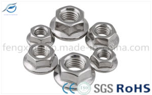 Zinc Plated Hex Flange Nut pictures & photos