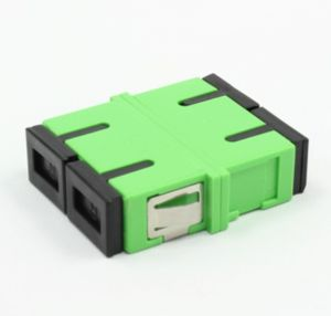 Sc/APC Green Duplex Fiber Optic Adapters with Flange pictures & photos