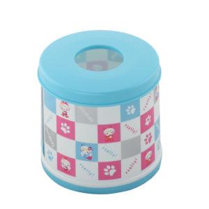 Round Bicolor Plastic Tissue Box (FF-5011-1)