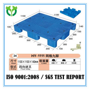 1100*1100 Gird Surface Nine Feet Industrial Standard Plastic Pallet