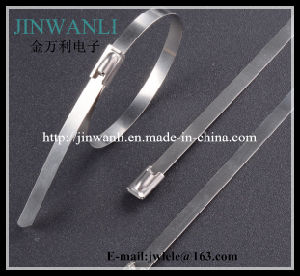 """Naked Stainless Steel Cable Tie Ball Lock Cable Ties 24"""" pictures & photos"""