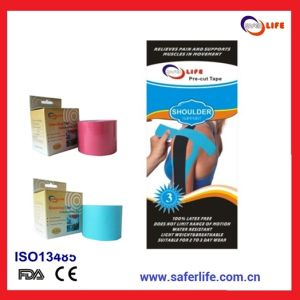 Pre-Cut Kinesiology Strips for Shoulder Support pictures & photos