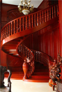Modern Fashion Steel and Wood Spiral Staircase pictures & photos