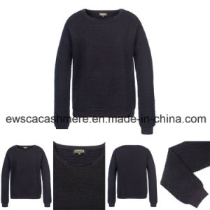 Lady′s Pure Cashmere Knitwear with Metallic Sewed