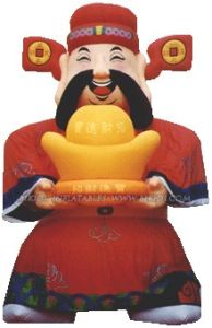 China Inflatable God of Wealth Mascot, Advertising Balloon for Sale K2002 pictures & photos