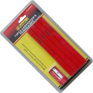 Hot Sale 12PCS Carpenter Pencil with Sharpener for Woodworking pictures & photos