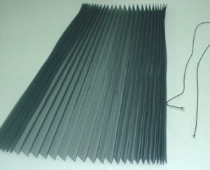 Fireproof Polyester Pleated/ Plisse Mesh pictures & photos