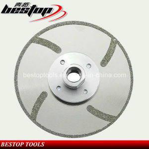 Free Chipping Marble Electroplated Diamond Cutting Tools with Flange pictures & photos
