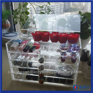 Transparent 5 Drawers Fashionable Acrylic Makeup Beauty Box pictures & photos