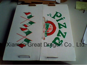 Locking Corners Pizza Box for Stability and Durability (PIZZ049) pictures & photos