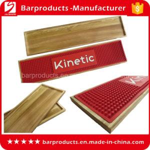 Anti Slip Red Wooden Box PVC Bar Runner