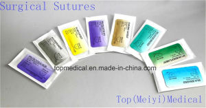 Polyglycolic Acid Surgical Suture with Needle pictures & photos