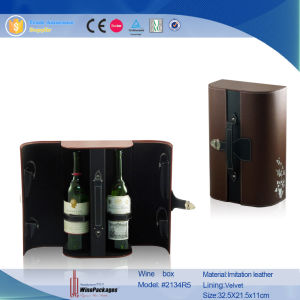 New Design Leather Custom Wholesale Wine Gift Box (2135R3) pictures & photos
