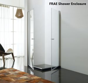 Double Pivot Shower Room Tempered Glass Shower Panel Simple Shower Enclosure pictures & photos