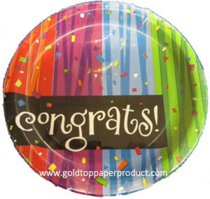 Paper Dinner Cake Plates for Graduation Party pictures & photos