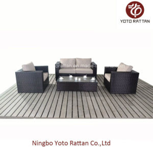 Outdoor Rattan Loveseat with Different Color (1105) pictures & photos