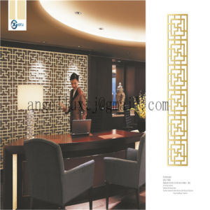 Dubai Hairline Both Sides Green Bronze Stainless Steel Room Divider Screen pictures & photos