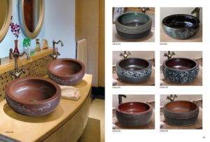 Classiacal Art Sytle Lavatory Wash Sink (D16) pictures & photos
