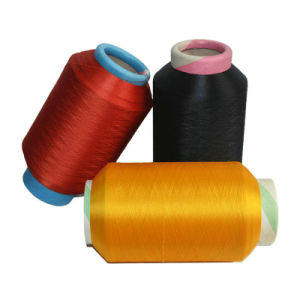Lycra Covered Polyester DTY Yarn (150D+40d) for Jeans