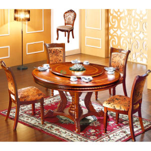 Wood Dining Table with 6 Pieces Dining Chair (H858)